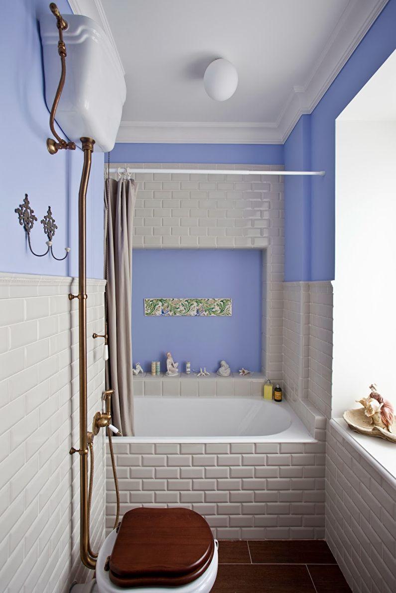 Дизайн ванной комнаты 3 кв.м. в стиле прованс - фото