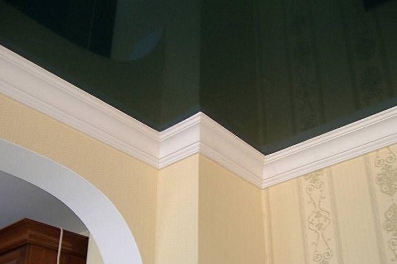 Виды плинтусов для натяжного потолка - Бордюры из пенопласта