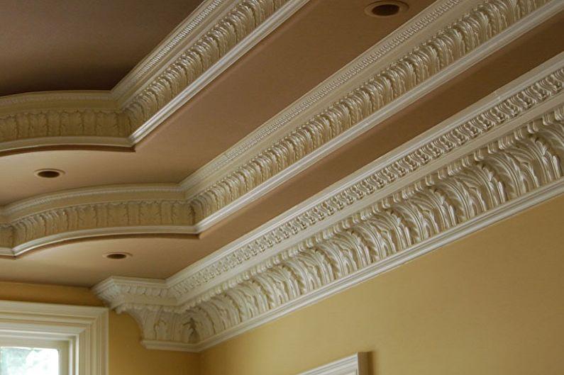 Виды плинтусов для натяжного потолка - Полиуретановые плинтуса
