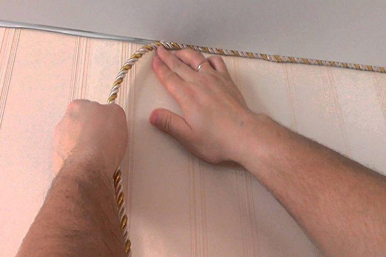 Виды плинтусов для натяжного потолка - Декоративный шнур