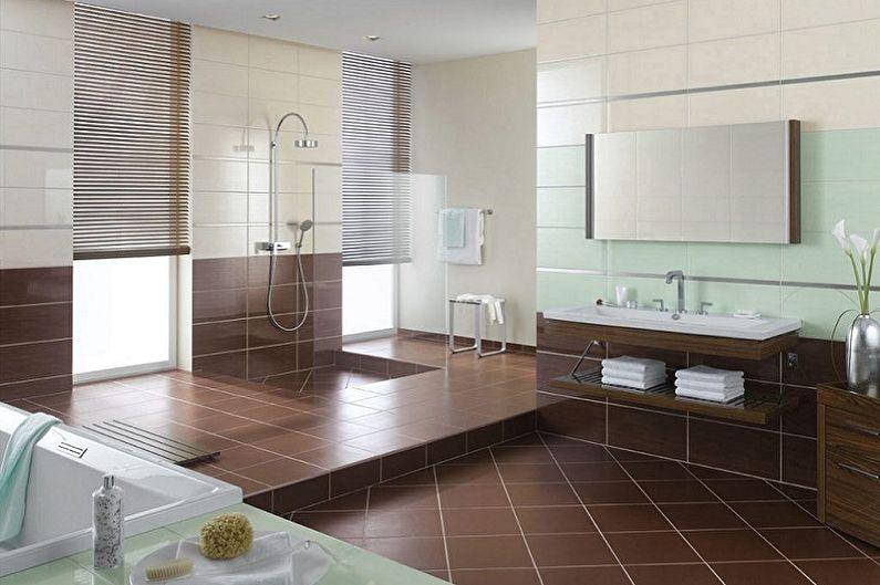 Виды напольной плитки для ванной комнаты - Плитка без эмали