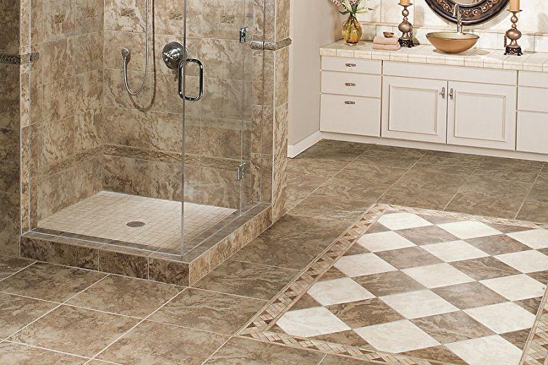 Виды напольной плитки для ванной комнаты - Прессованная плитка