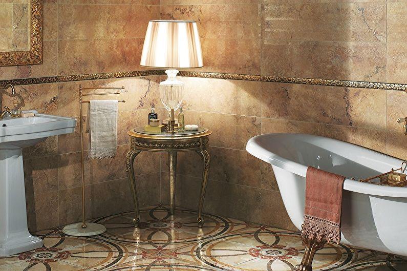Виды напольной плитки для ванной комнаты - Глазурованная плитка