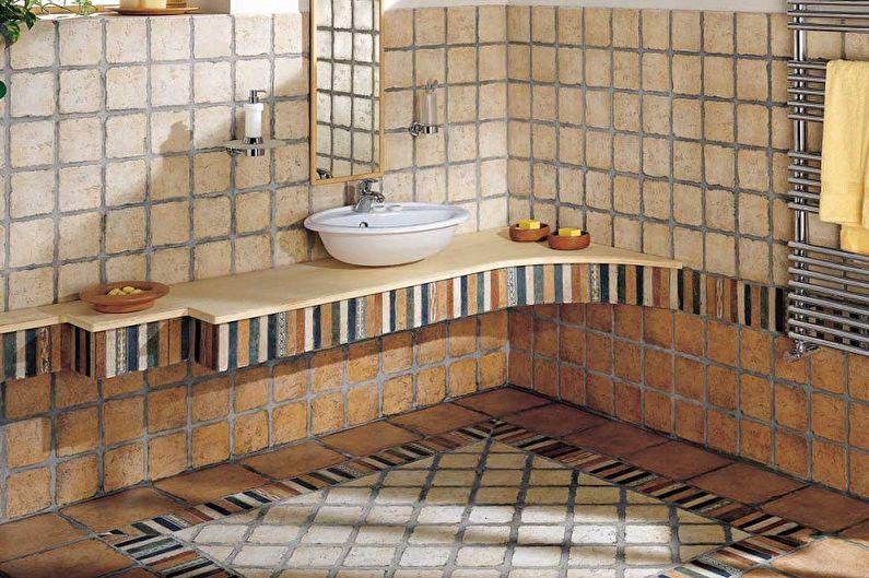 Виды напольной плитки для ванной комнаты - Клинкерная плитка