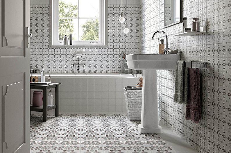 Виды напольной плитки для ванной комнаты - Метлахская плитка