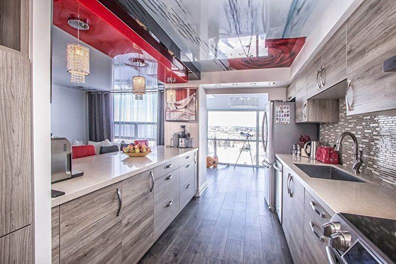 Натяжные потолки с фотопечатью для кухни