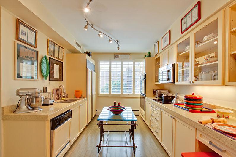 Натяжной потолок на кухне - Освещение и подсветка
