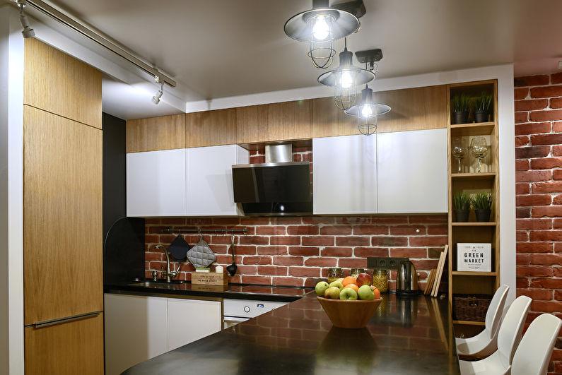 Натяжной потолок для маленькой кухни