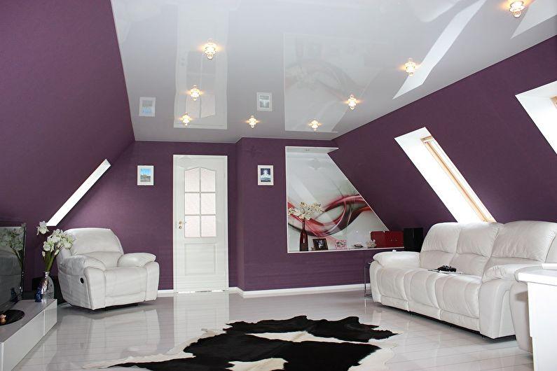 Натяжные потолки для гостиной - Особенности