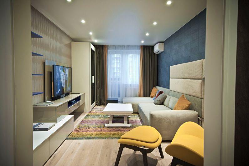 Натяжной потолок для маленькой гостиной