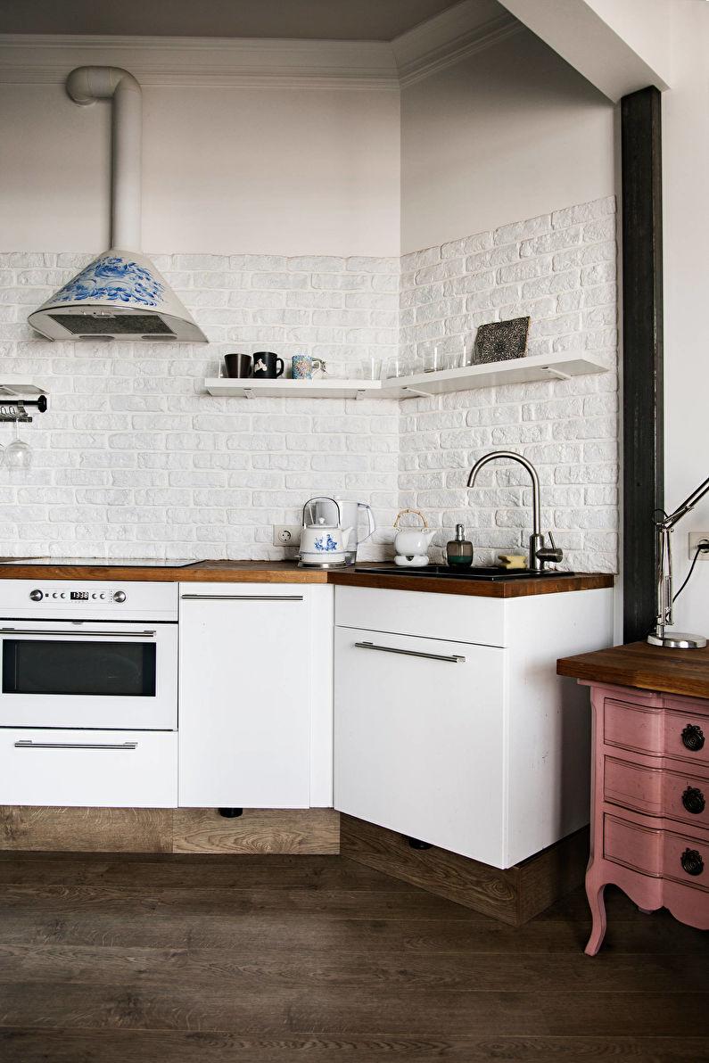Искусственный декоративный камень на кухне