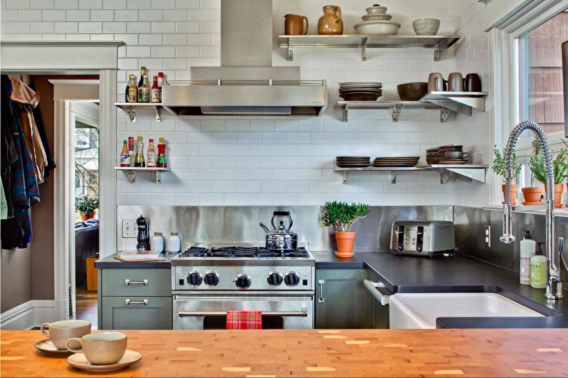 Стальной фартук для кухни