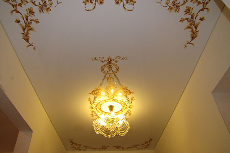 Натяжной потолок в прихожей - Фотопечать