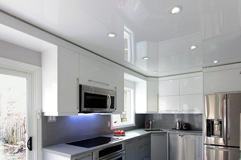 Как помыть натяжной потолок без разводов в домашних условиях - Как помыть натяжной потолок на кухне