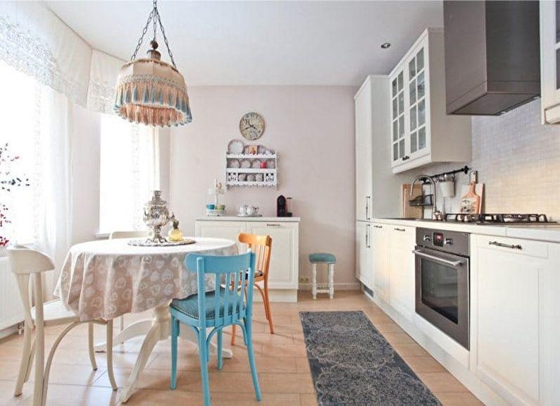 Обои для белой кухни - дизайн фото