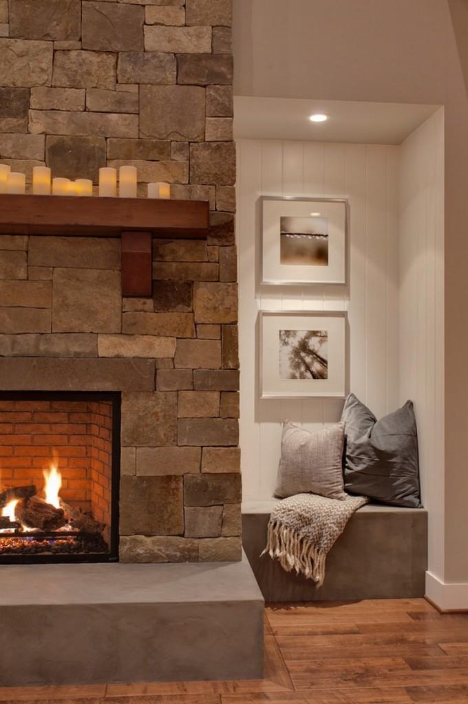 Декоративный камень в интерьере квартиры - фото