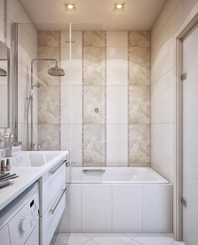Ванна в комнате 3 кв.м. - фото