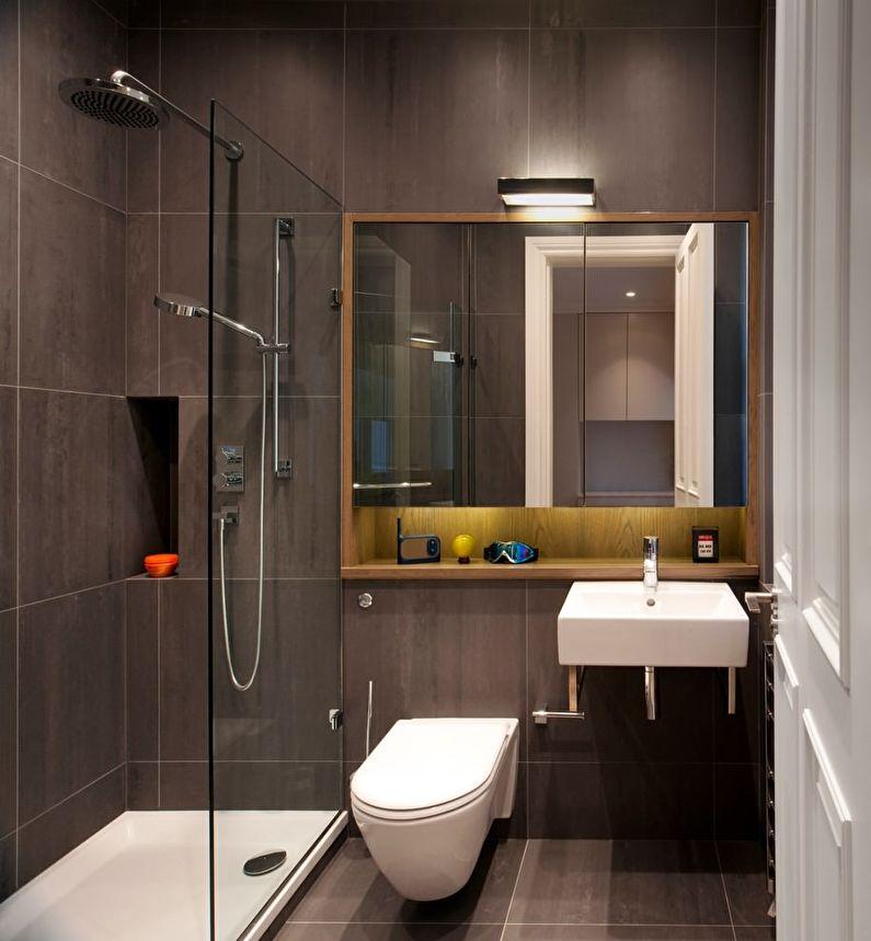 Ванная 3 кв.м. с душевой кабинкой - фото