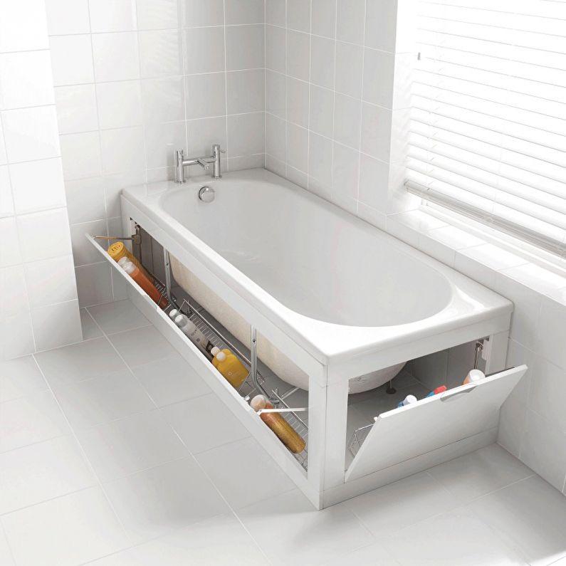 Ванна с откидными дверцами - ванная комната 3 кв.м.