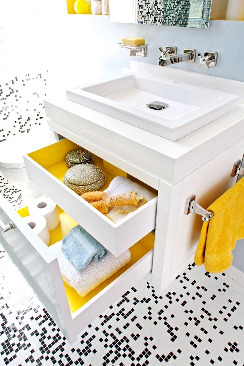 Системы хранения для маленькой ванной 3 кв.м. - фото