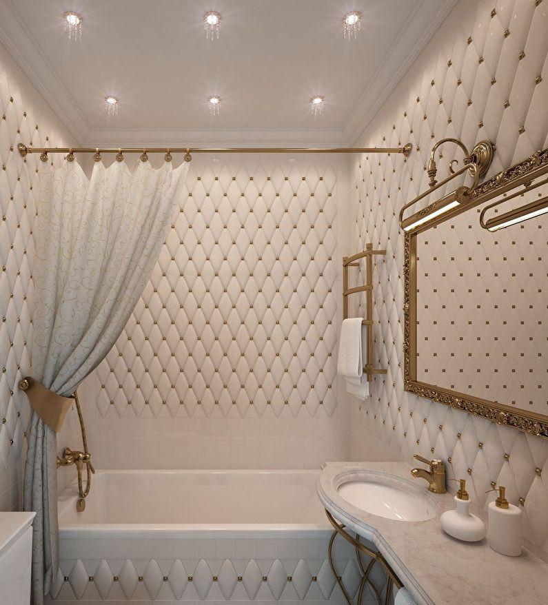 Дизайн ванной комнаты 3 кв.м. в классическом стиле - фото