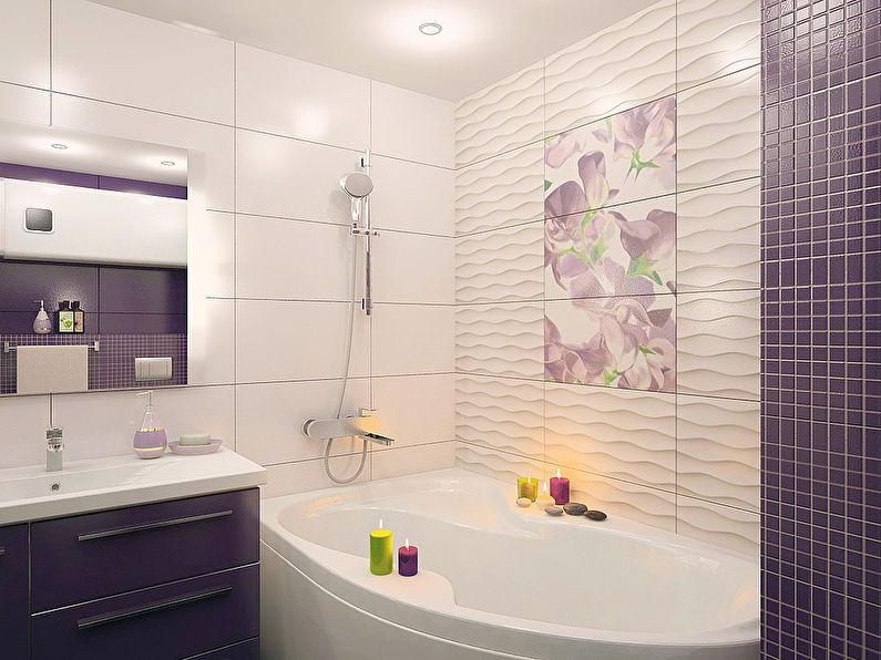Дизайн интерьера ванной комнаты 3 кв.м. - фото