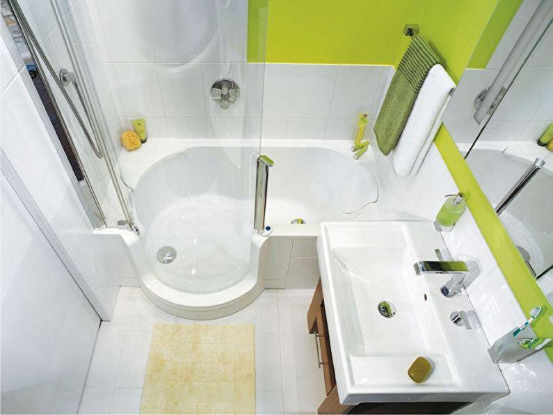 Дизайн ванной комнаты 3 кв.м. в зеленых тонах - фото