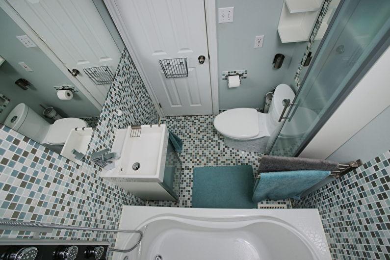 Ванная комната 3 кв.м. - дизайн пола