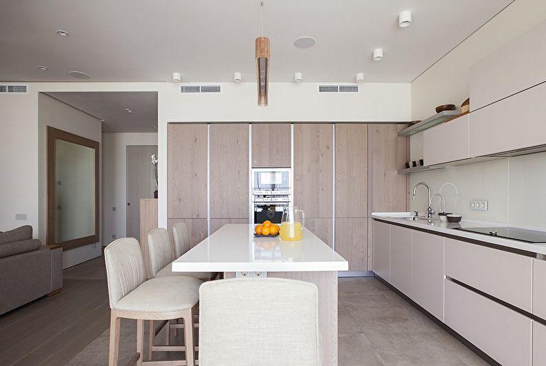 Дизайн кухни в стиле минимализм - фото