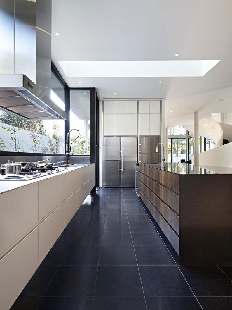 Дизайн пола - кухня в стиле минимализм