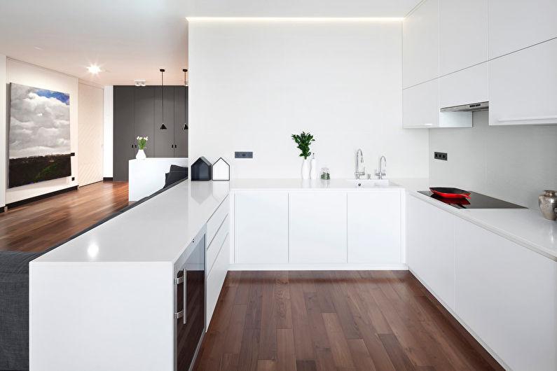 Отделка стен - кухня в стиле минимализм