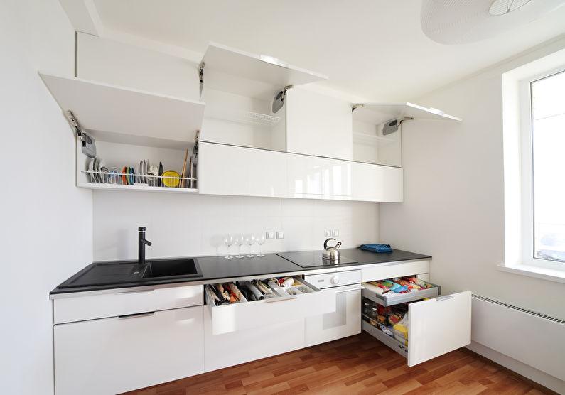 Системы хранения - дизайн кухни в стиле минимализм