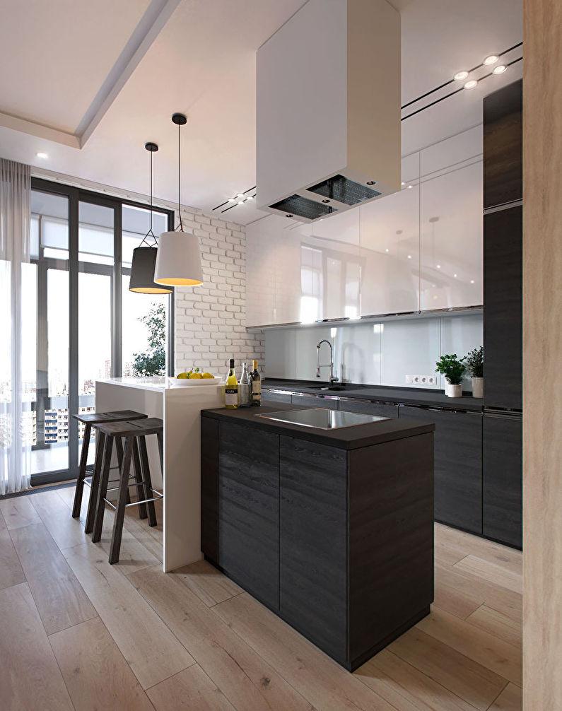 Дизайн маленькой кухни в стиле минимализм - фото