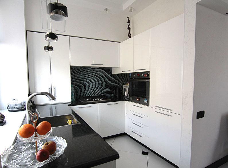 Дизайн угловой кухни в стиле минимализм - фото