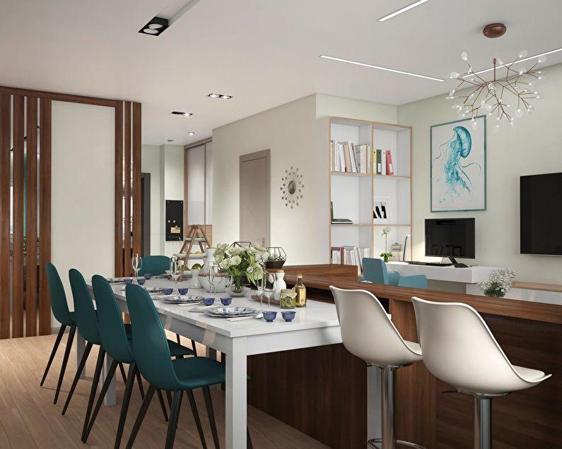 Дизайн квартиры для семьи с четырьмя детьми
