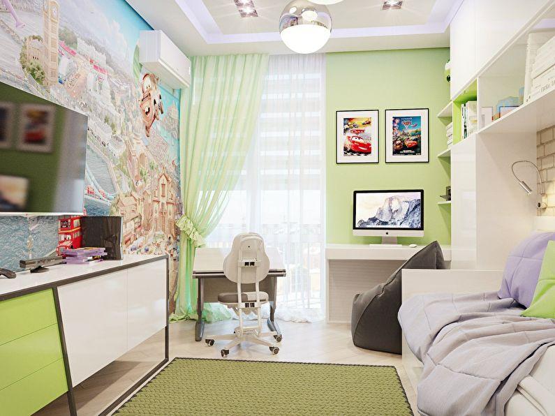 Дизайн маленькой детской комнаты в современном стиле