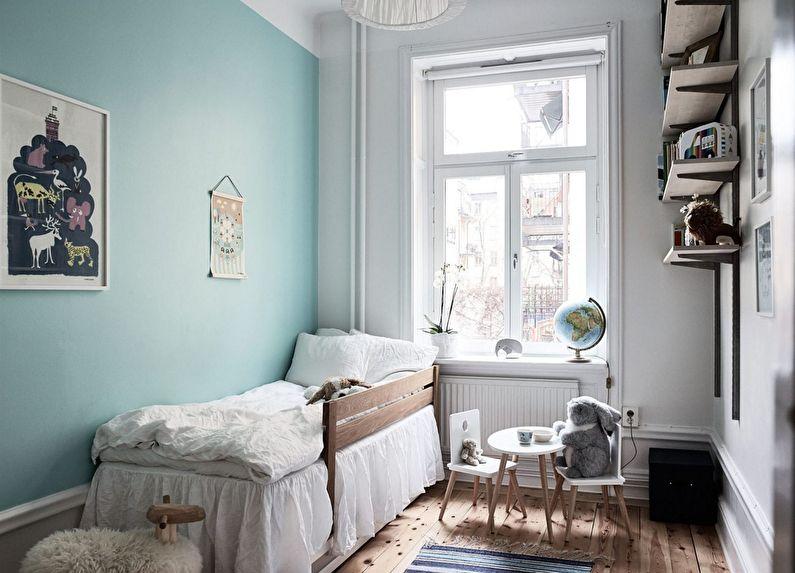 Дизайн маленькой детской комнаты в скандинавском стиле