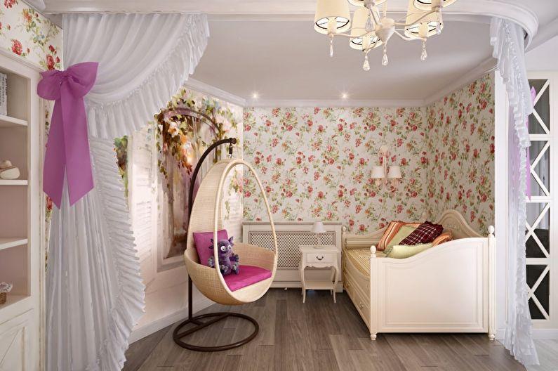Дизайн маленькой детской комнаты в стиле прованс