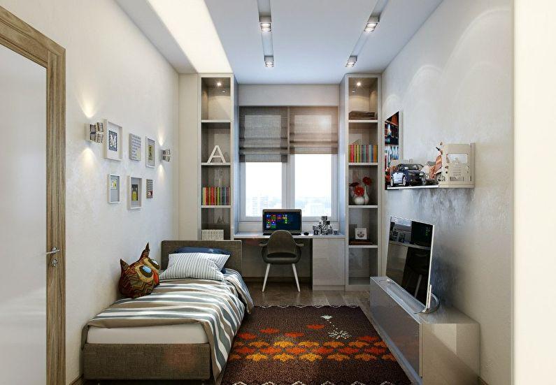 Маленькая детская комната в белом цвете