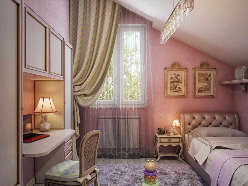 Маленькая детская комната в розовом цвете