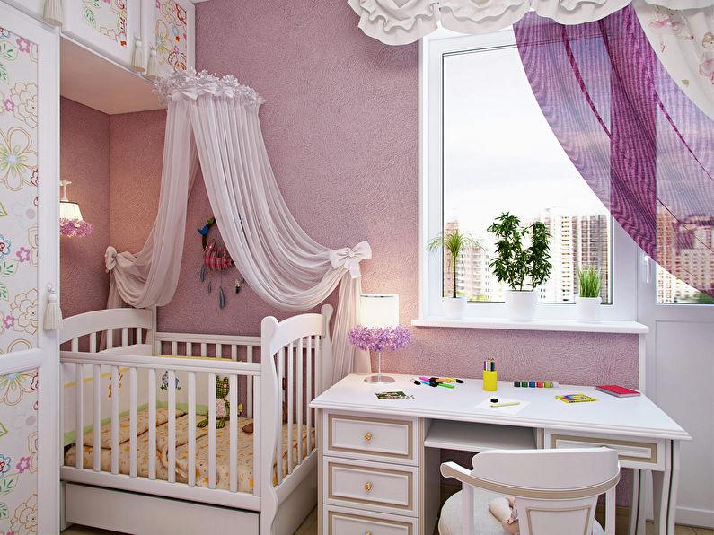 Текстиль - дизайн маленькой детской комнаты