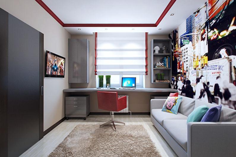 Расстановка мебели в маленькой квадратной детской