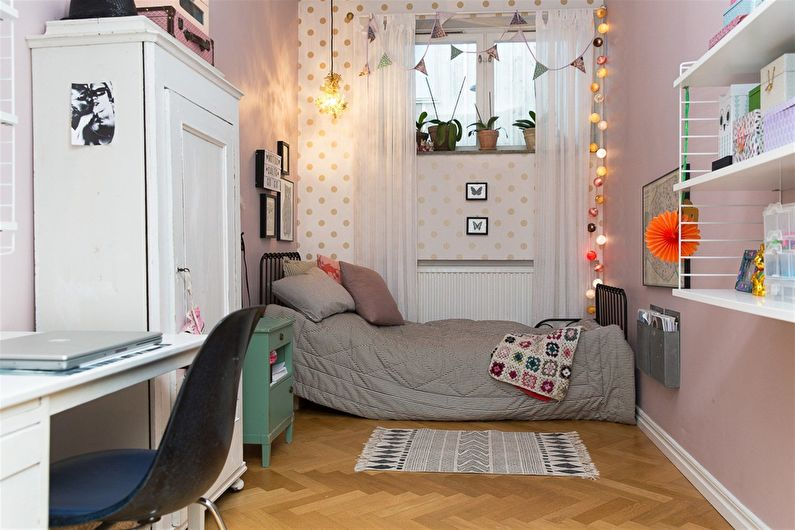 Расстановка мебели в узкой (прямоугольной) маленькой детской