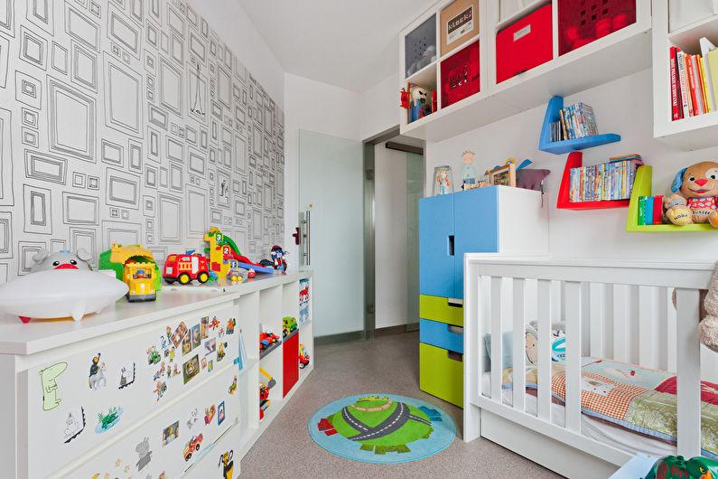 Расстановка мебели в маленькой детской нестандартной планировки