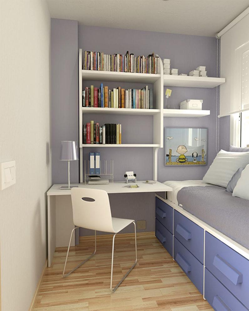 Дизайн маленькой детской комнаты 5-6 кв.м. - фото