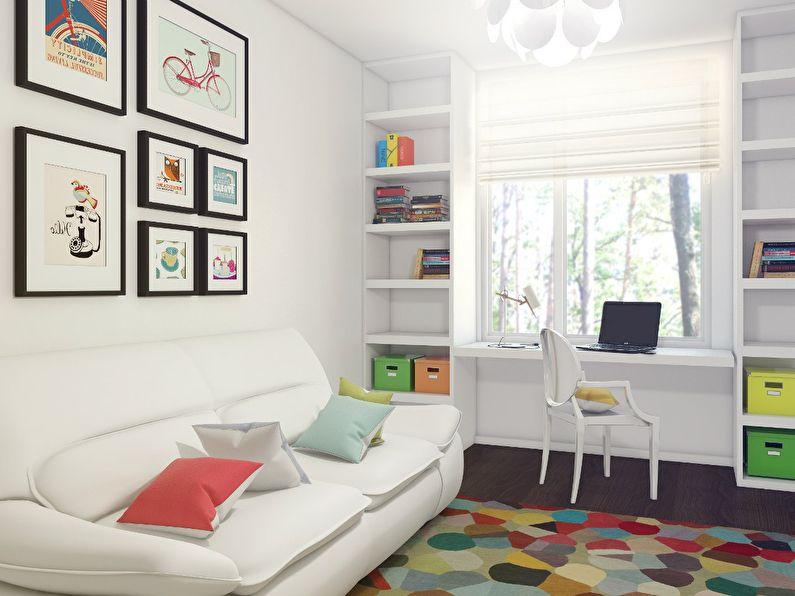 Дизайн маленькой детской комнаты 7-8 кв.м. - фото