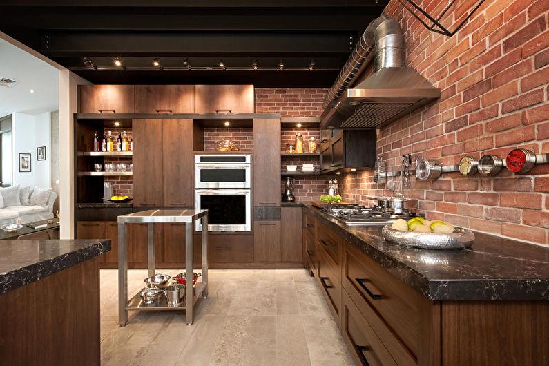 Кухня в стиле лофт - фото