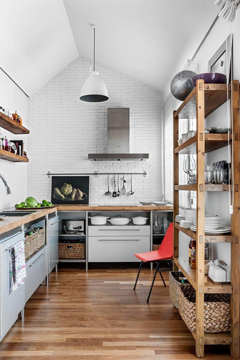 Системы хранения - кухня в стиле лофт