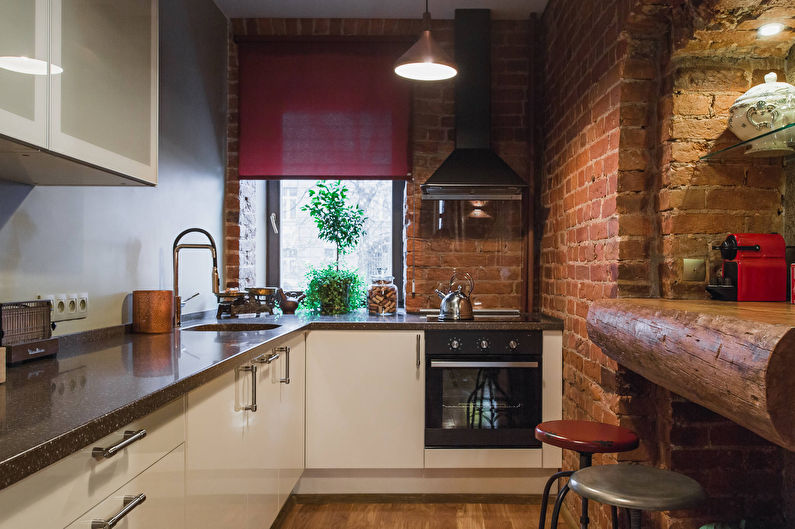 дизайн кухни в стиле лофт 40 фото кухня в индустриальном стиле