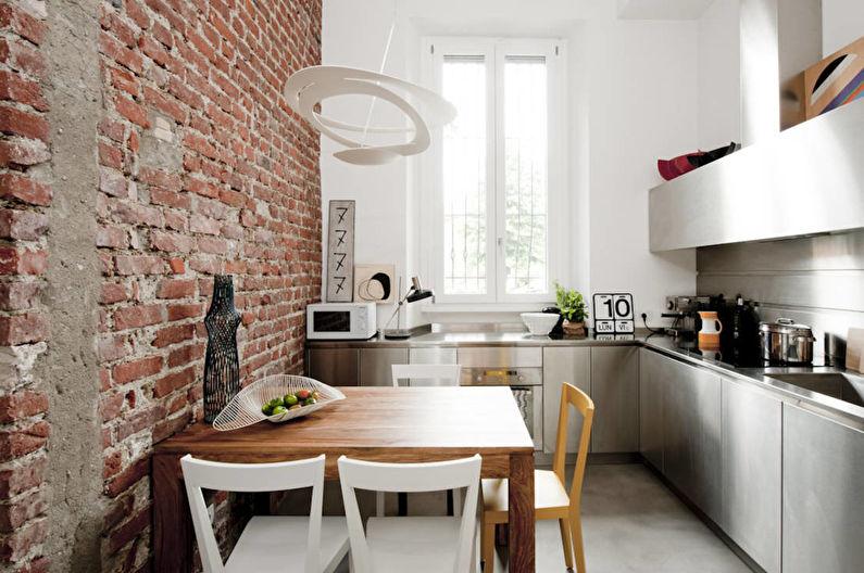 Дизайн маленькой кухни (хрущевки) в стиле лофт - фото